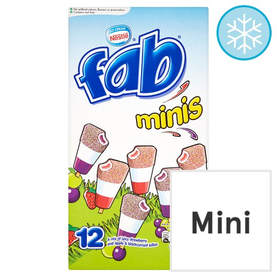 Nestle Fab Minis Ice Lollies 12 X 32Ml