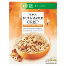 Tesco Nut And Maple Crisp Cereal 500G