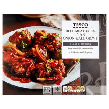 Tesco Beef Meatballs In Ale Gravy 460G