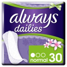Always Dailies Slim Multiform Fresh Panty Liners 30