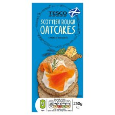 Tesco Scottish Rough Oatcakes 250G