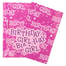 Tesco Happy Birthday Girl 2 Sheets 2 Tags