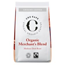Cru Kafe Organic Merchants Blend Ground Coffee 250G