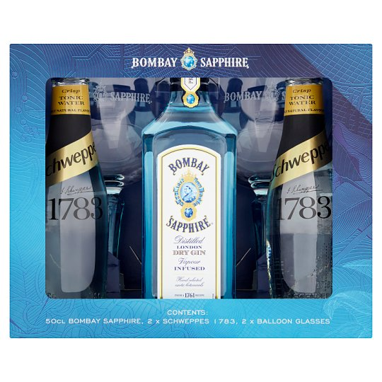 Bombay Saphire Gin And Tonic Gift Set