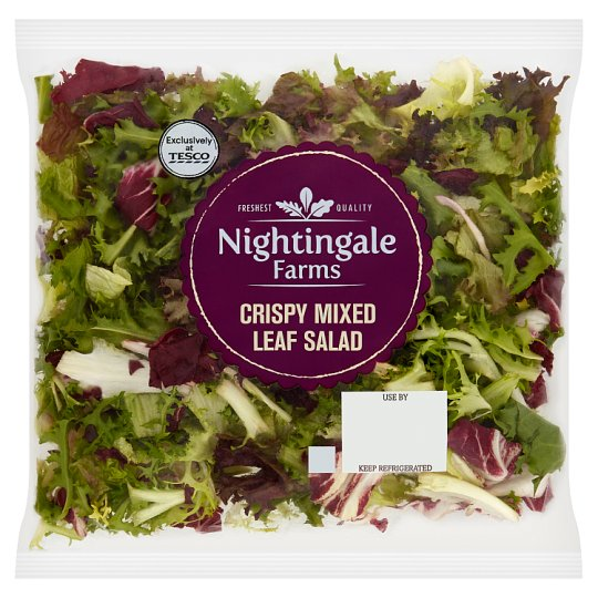 Tesco Nightingale Crispy Mixed Leaf Salad 120G