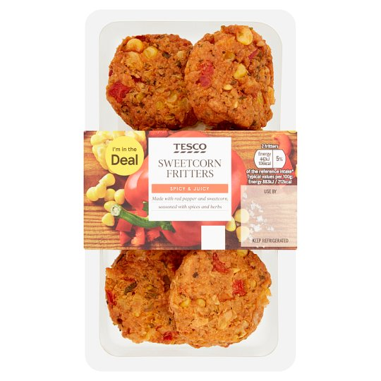 Tesco Baked Sweetcorn Fritters 150G