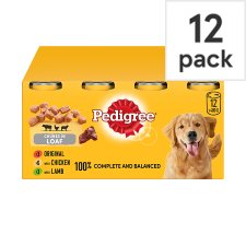 image 1 of Pedigree Can Meat Loaf Tinned Dog Food 12X400g