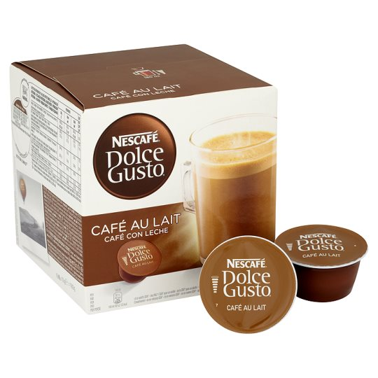 nescafe dolce gusto cafe au lait coffee pods 16 servings 160g groceries tesco groceries. Black Bedroom Furniture Sets. Home Design Ideas