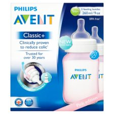 Philips Avent Classic Bottle Pink 2X 260Ml