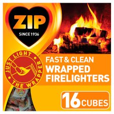 Zip 16 Fast And Clean Wrapped Firelighters