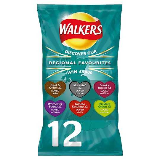 Walkers Regional Favourites Variety 12X25g