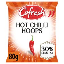 Cofresh Hot Chilli Flavour Potato Hoops 80G