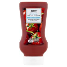 Tesco Top Down Tomato Ketchup Reduced Sugar And Salt 525G