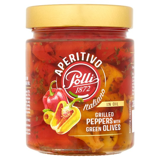 Polli Grilled Peppers With Gre Olives 285G