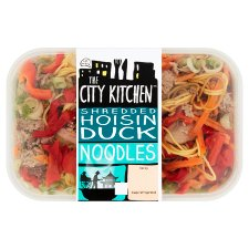 The City Kitchen Hoisin Duck Noodles Ready Meal 385G