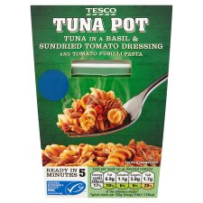 Tesco Tuna Basil And And Tomato Dressing Fusil Pasta 140G
