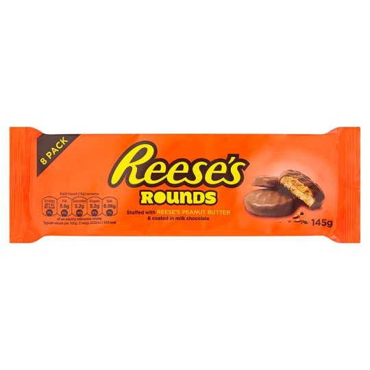 Reeses Rounds Peanut Butter 8 Pack 145G