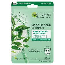Garnier Moisture Bomb Hydrating Face Mask Green Tea