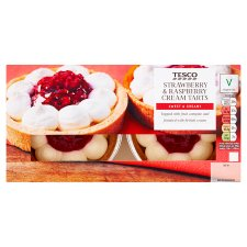 Tesco Strawberry And Raspberry Tart 250G