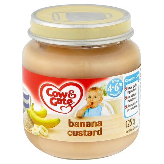 Cow And Gate Banana Custard Jar 125G 4 Mth+