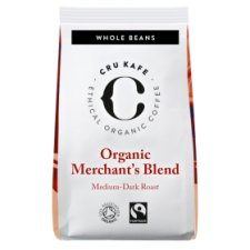 Cru Kafe Organic Merchants Blend Coffee Beans 250G