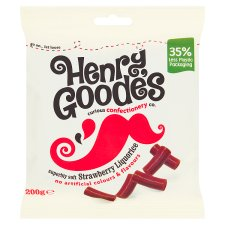 Henry Goode's Strawberry Flavour Liquorice 200G