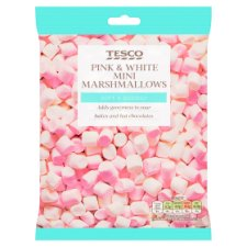 Tesco Pink And White Marshmallows 100G