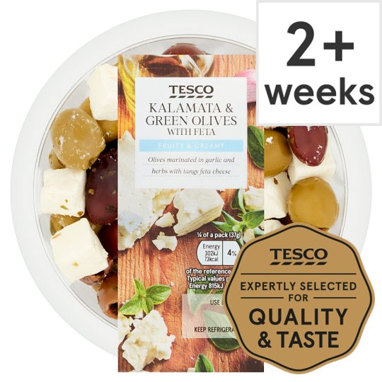 Tesco Black And Green Olives With Feta 150G