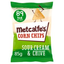 Metcalfe's Corn Chip Sour Cream And Chive 85G