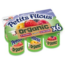 Petits Filous Organic Variety Fromage Frais 6X50g