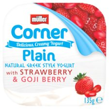 Muller Corner Plain Strawberry And Goji Berry Yogurt 135G