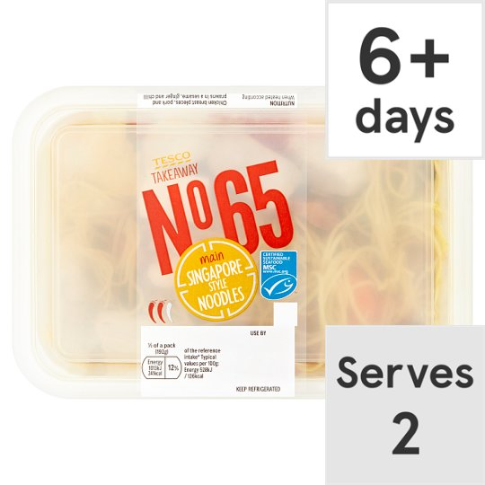 Tesco Takeaway Singapore Noodle 385G
