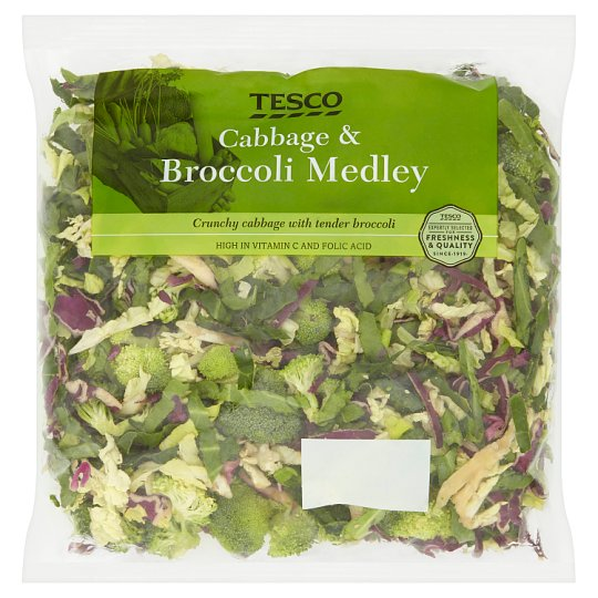 image 1 of Tesco Cabbage Broccoli Medley 350G