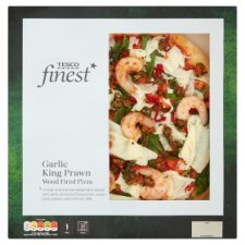 Tesco Finest Garlic King Prawn Pizza 464G