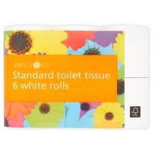 Springforce Toilet Tissue White 6 Pack