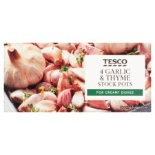 Tesco Roasted Garlic And Thyme Stock Pots 112G