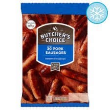 Butcher's Choice 20 Pork Sausages 907G