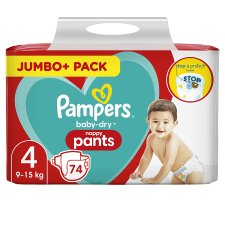 Size 4 Baby Dry Nappy Pants 74 Jumbo Pack