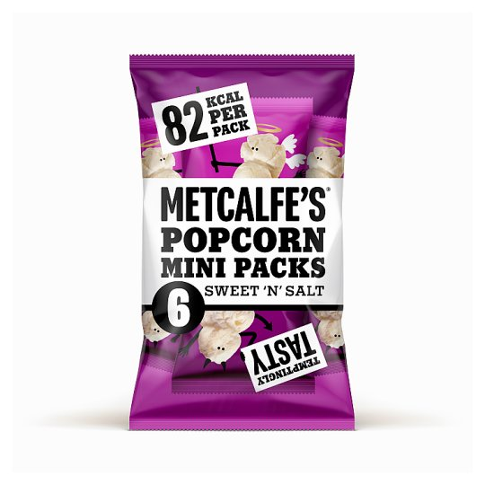Metcalfes Skinny Sweet And Salty Popcorn 6 X 17 G