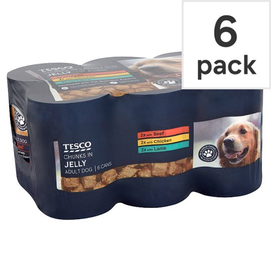 Tesco Dog Chunks In Jelly Selection 6X400g