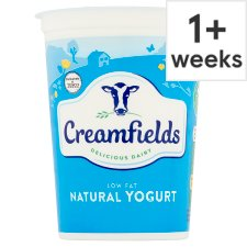 Creamfields Low Fat Natural Yogurt 500G