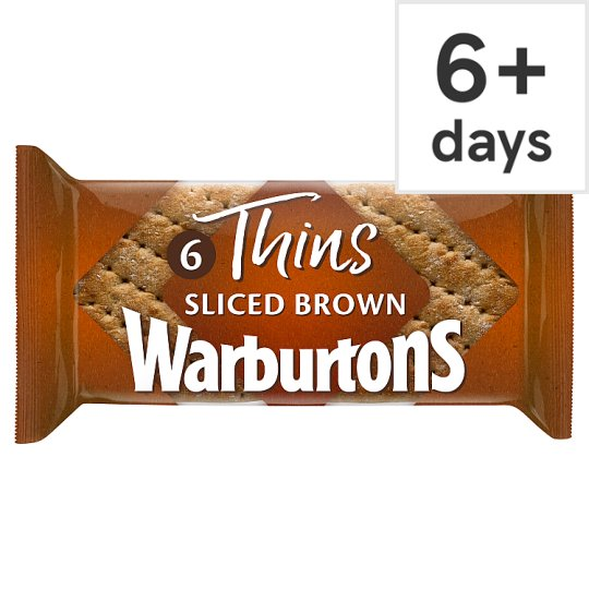 Warburtons Brown Sandwich Thins 6 Pack