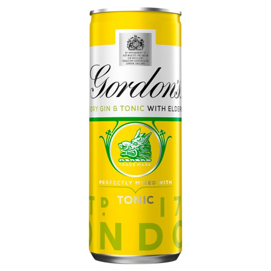 Gordons And Tonic With Elderflower 250Ml
