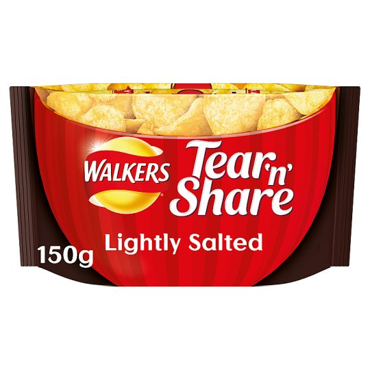 Walkers Tear And Share Lightly Salted 150G