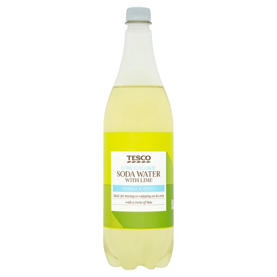 Tesco Low Calorie Soda Water With Lime 1L