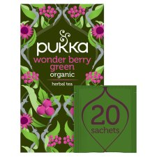 Pukka Organic Wonderberry Green 20 Tea Bags 40G