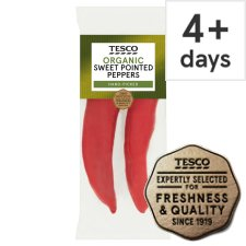 Tesco Organic Sweet Pointed Peppers 180G