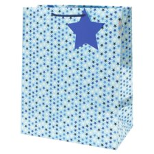 Tesco Blue Metallic Stars Bag Large