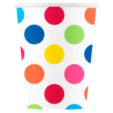 Rainbow Polka Paper Cup 8Pk