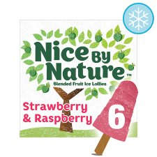 image 1 of Nice By Nature Strawberry &R/Berry Lollies 6X40ml